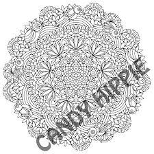 om mandala coloring pages hidden birds printable mandala coloring page by candy hippie on