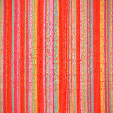 striped upholstery cotton 1980s vintage textured home decor