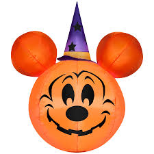 shop gemmy 3 34 ft lighted mickey mouse halloween inflatable at