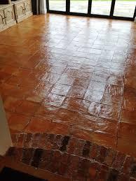 Tile Floor In Spanish by Cleaning A 90m2 Spanish Terracotta Tiled Kitchen Floor In Alderley