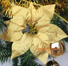 Buy Christmas Decorations Wholesale Prices by Compare Prices On Gold Christmas Poinsettia Online Shopping Buy
