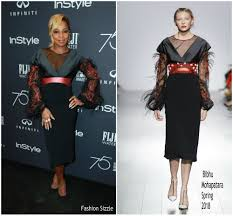 Fashion Sizzlers Archives Fashionsizzle by Mary J Blige In Bibhu Mohapatra U2013 Hfpa And Instyle Celebration Of