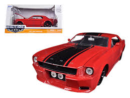Red Mustang With Black Stripes Diecast Model Cars Wholesale Toys Dropshipper Drop Shipping 1965