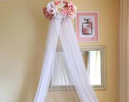 Cot Bed Canopy Pink Newborn Canopy Photo Prop Baby Mobile Bed Canopy Crib
