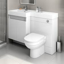 Bathroom Vanity Unit With Basin And Toilet 1200mm White Vanity Unit Back To Wall Toilet Bathroom Sink