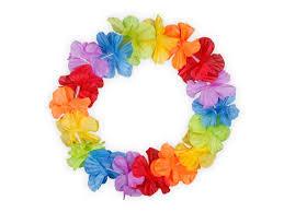 hawaiian leis hawaiian band flower headband hula carnival party hawaiian