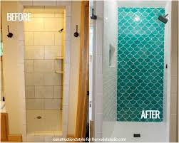 remodelaholic how to tile a shower with moroccan fish scale tile