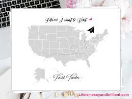 Free travel tracker printable