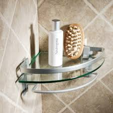 Bathroom Chrome Shelving by Bathroom Cool Bathroom Accessories Design With Glass Corner Shelf