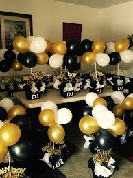 white and gold baby shower black and gold babyshower centerpieces black and white gold