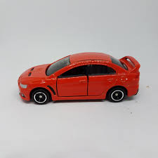mitsubishi singapore tomica mitsubishi lancer evolution orange loose toyspree