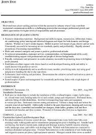 Sample Resume For Auto Mechanic by Tire Technician Cover Letter