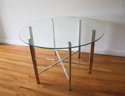 chrome glass end tables mid century modern glass and chrome tables picked vintage
