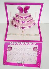 birthday cake card template free printable birthday pop up card
