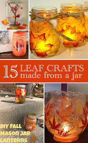 crafts with jars 15 leaf crafts with jars