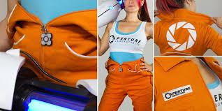 portal jumpsuit freelance digital designer steevin aperture labs jumpsuit