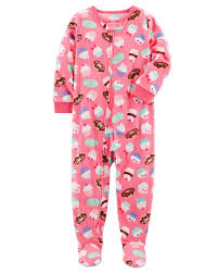 1 cupcake fleece pjs carters