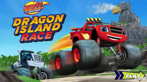 monster truck video games for kids blaze and the monster machines dragon island race kids games