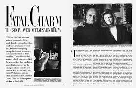 Pay Vanity Fair Dominick Dunne On Claus Von Bülow The Fifth Avenue Socialite