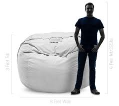engineering students play with 6 foot lovesac bean bags