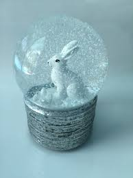 musical snow bunny snow globe bunny bunch boutique