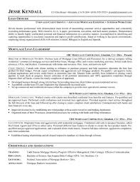 Mortgage Broker Resume Sample by Resume Mortgage Processor Resume