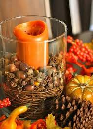 36 acorn table centerpieces table decorating ideas