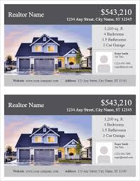 flyer property real estate flyer template for word