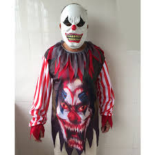 Halloween Costumes Aliexpress Buy Halloween Horror Clown Costume Mask
