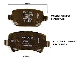 volvo rear brake pad set p3 s80 v70 xc70 with manual parking