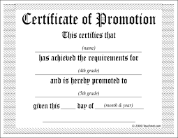 promotion certificate templates expin franklinfire co