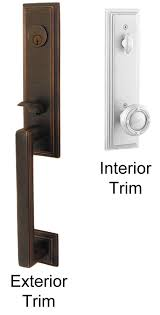 Exterior Door Lockset Emtek Wilshire Brass Entry Door Handle Shop Entry Set Door Locks