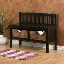Black Wooden Bench Indoor Shop Boston Loft Furnishings Mission Shaker Black Storage Bench At