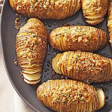 hasselback potatoes with seasoned breadcrumbs
