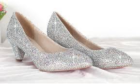wedding shoes rhinestones wedding shoes ideas small bling rhinestones low heel wedding
