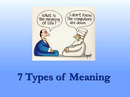 Types Meaning 7 Types Of Meaning Ppt Video Online Download