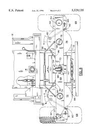 patent us5529135 steering mechanism for four wheel lawn mower
