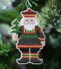 Cross Stitch Christmas Ornament On Plastic Canvas Crafts