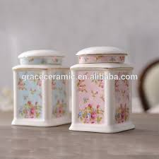 pink canisters kitchen porcelain tea coffee sugar canisters white source quality