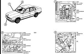 where is the fuel pump relay located on 530i bmw 1995
