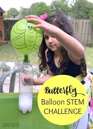 Challenge Water Balloon Caterpillar To Butterfly Science Activity With Balloon