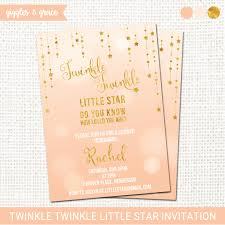 twinkle twinkle little star baby shower invitation printable