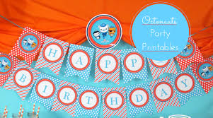free octonauts party banner u0026 more onebusymommy com