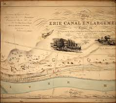 map of the erie canal building the erie canal albany institute of history and