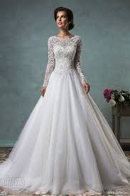 s white wedding dress 34 sleeve wedding dresses for fall and winter weddings