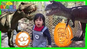 Disney Halloween Costumes For Family by Giant Life Size Dinosaur Paw Patrol Disney Pumpkins Dino Land