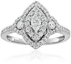 marquise halo engagement ring keepsake signature 14k white gold marquise halo engagement