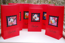 mickey mouse favor bag goodie bag minnie mickey and friends