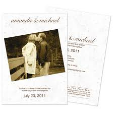 wedding invitations with pictures snap plantable wedding invitation plantable wedding