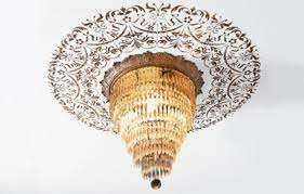 What Size Ceiling Medallion For Chandelier How To Stencil A Ceiling Medallion This Old House